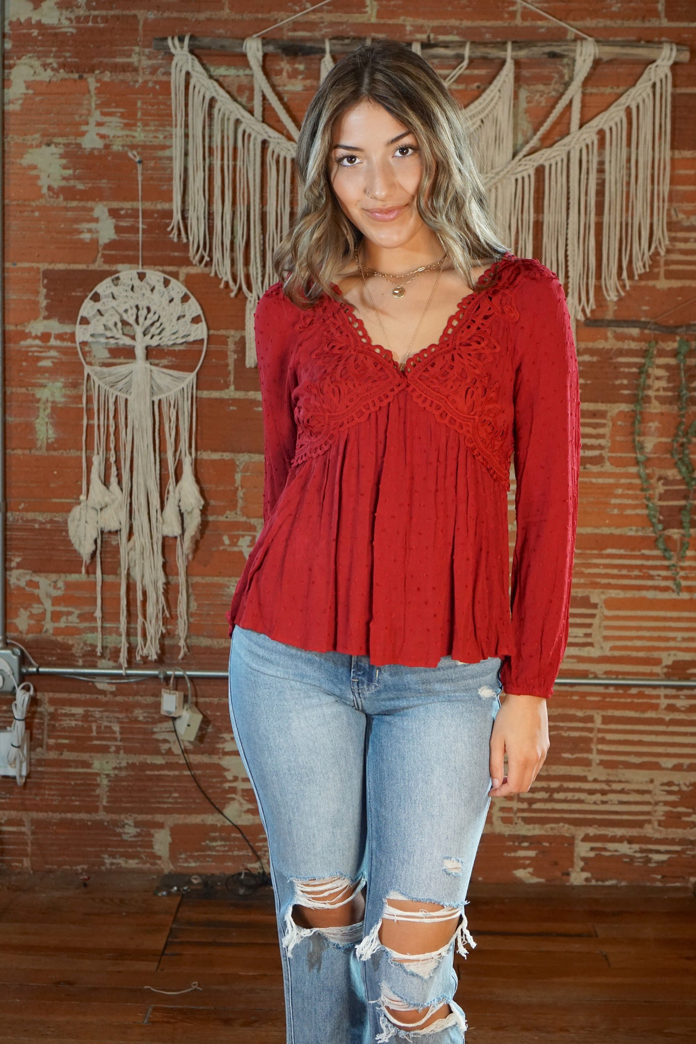 Be Mine Red Blouse