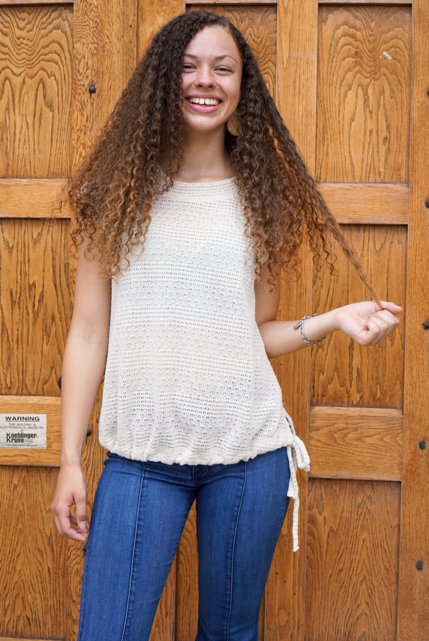 Taryn Cream Knit Top