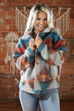 Asheville Teal Aztec Jacket
