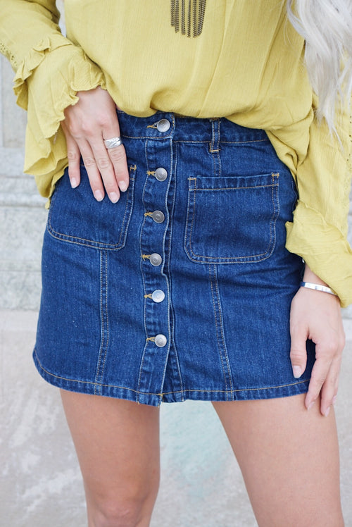 Janessa Denim Skirt