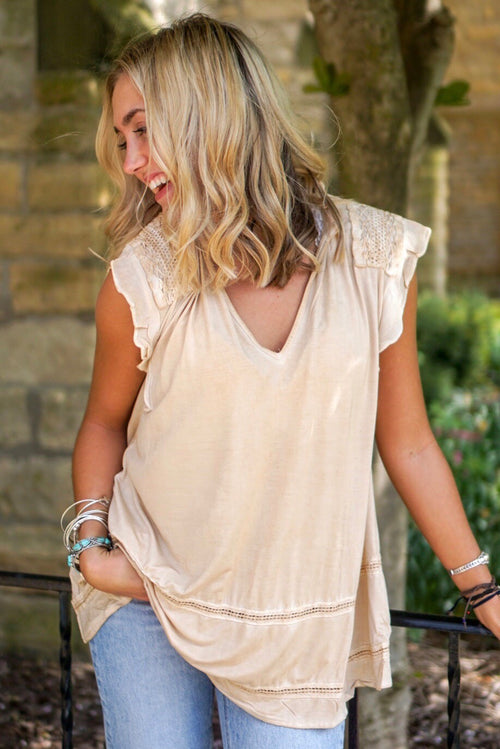 Honey Gold V-Neck Tank