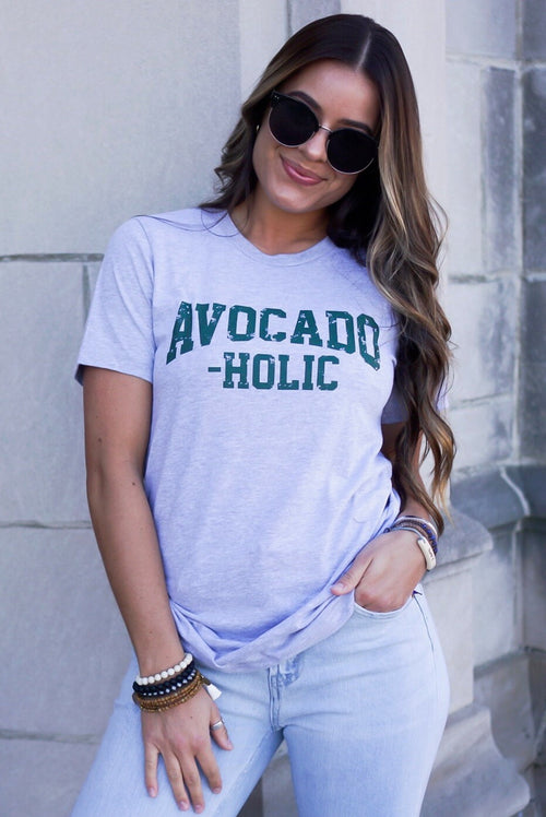 Grey Avocado-Holic Tee