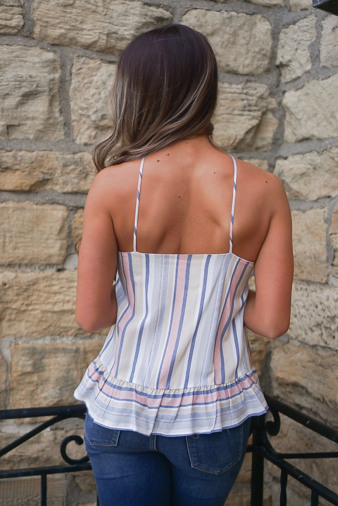 Striped Woven Tank Top