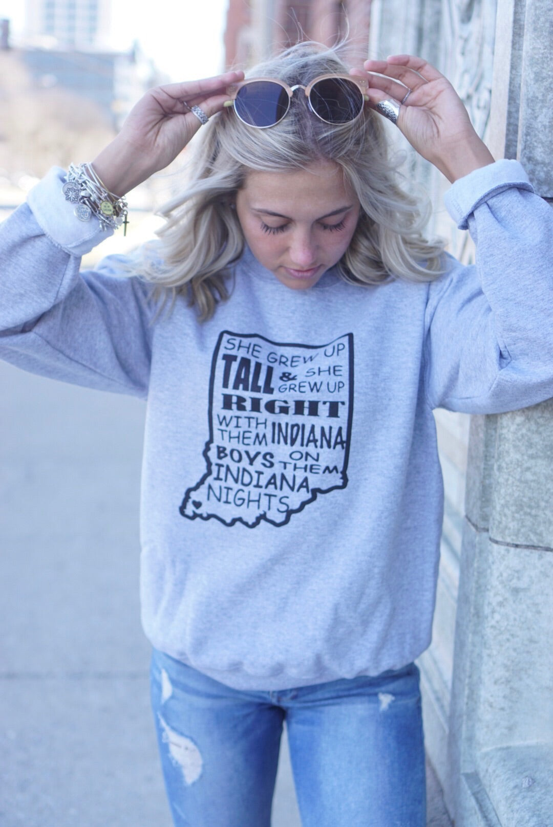 Grey Homegrown Crew Neck Sweatshirt