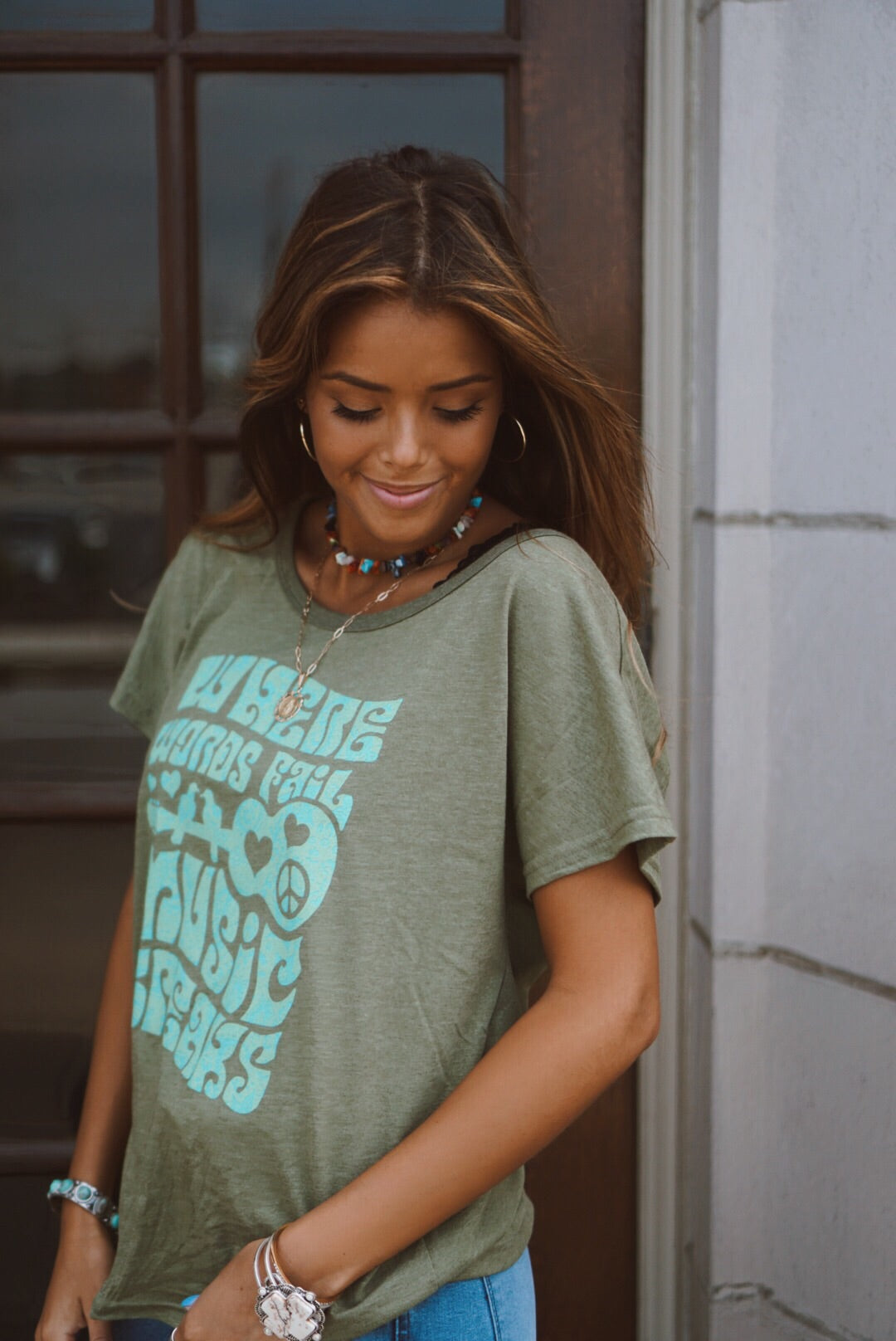 Olive Music Speaks Tee