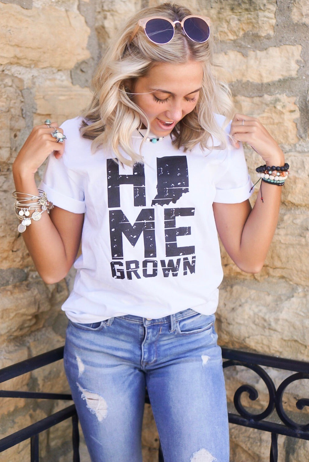 White Home Grown Graphic Tee