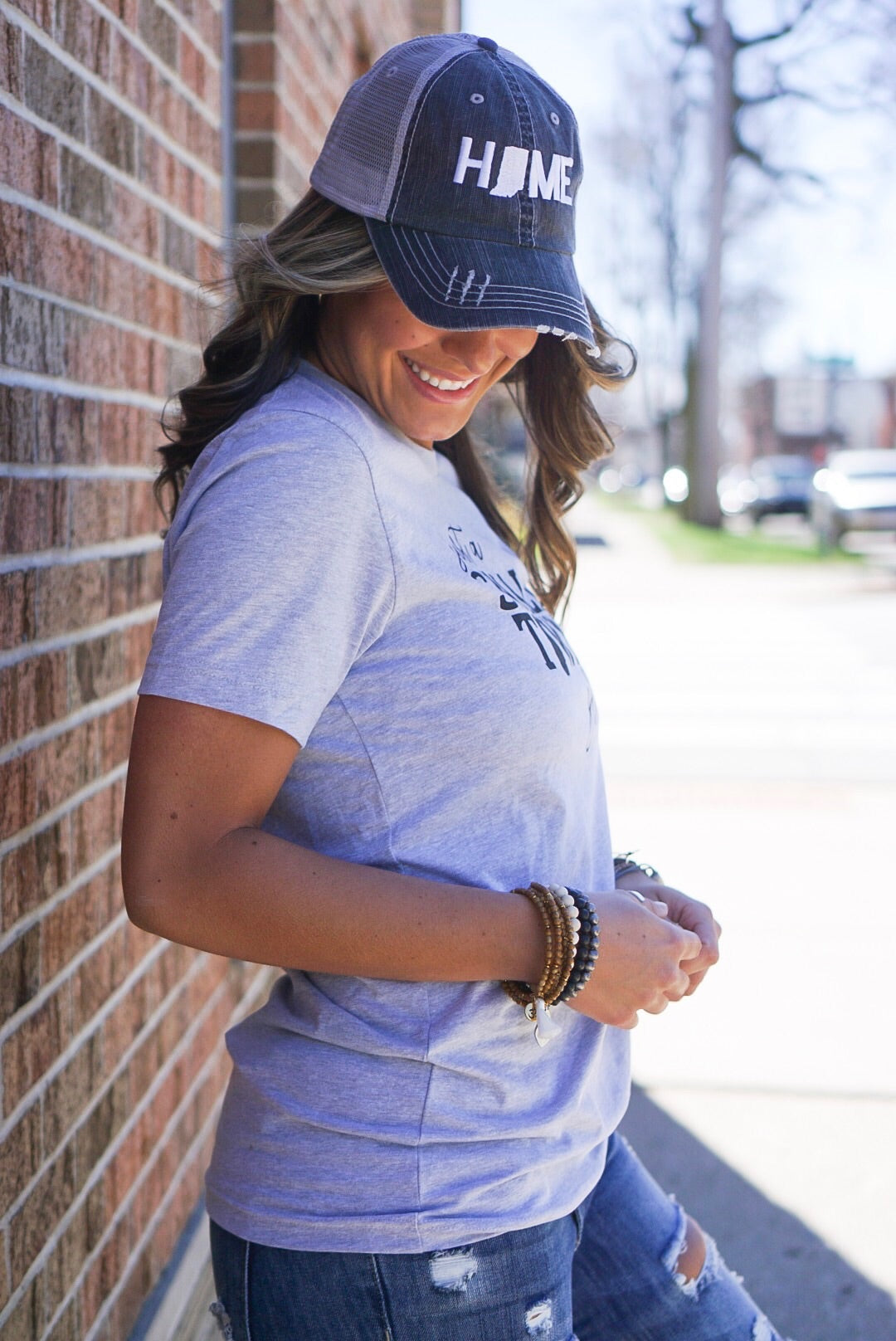 Grey Small Town Girl Tee