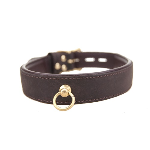 Nubuck Leather Choker with 'O' Ring