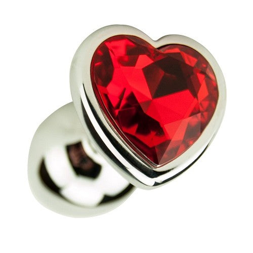 Heart Shaped Anal Plug-Silver