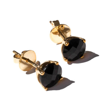 Renée Black Onyx and Gold Earrings