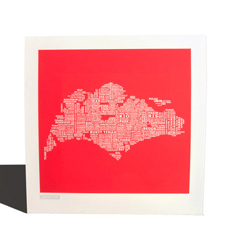 Red Hot Singapore Map
