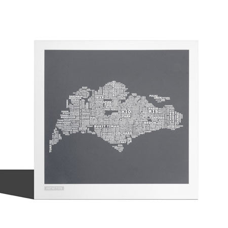 Typographic Singapore Map