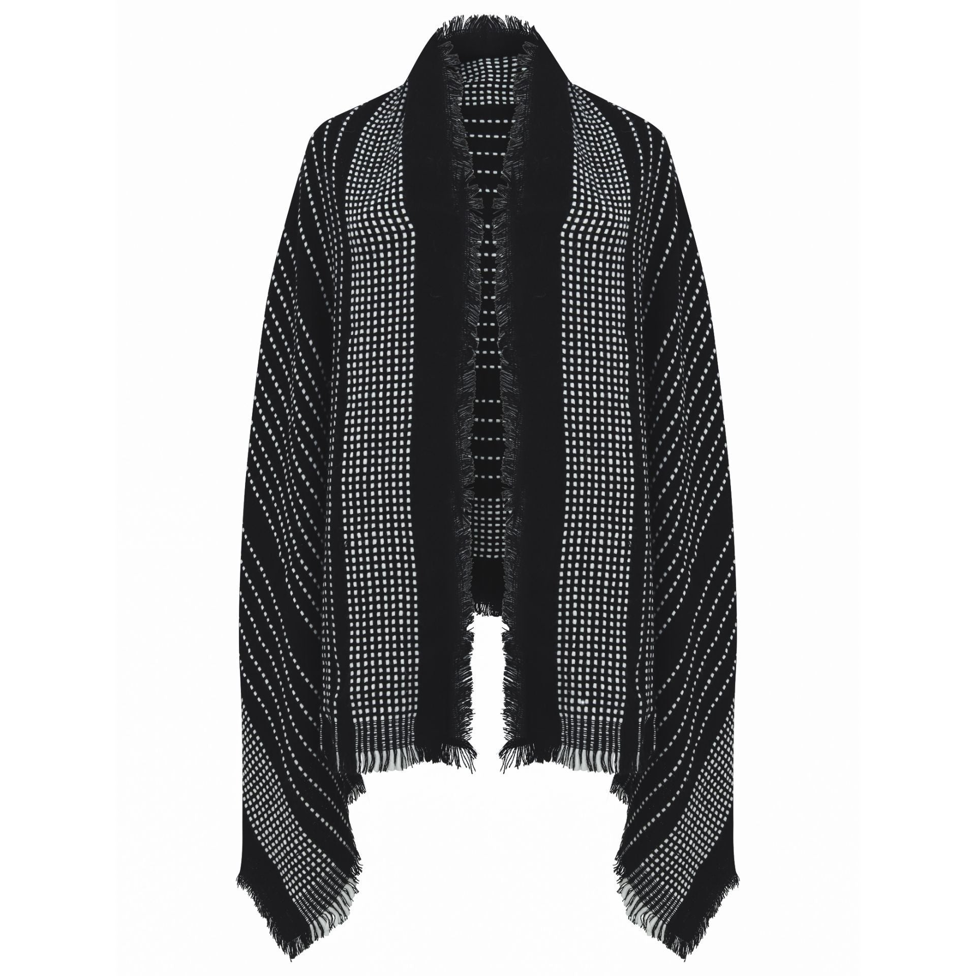 East Village Jordan Georgia Scarf - black