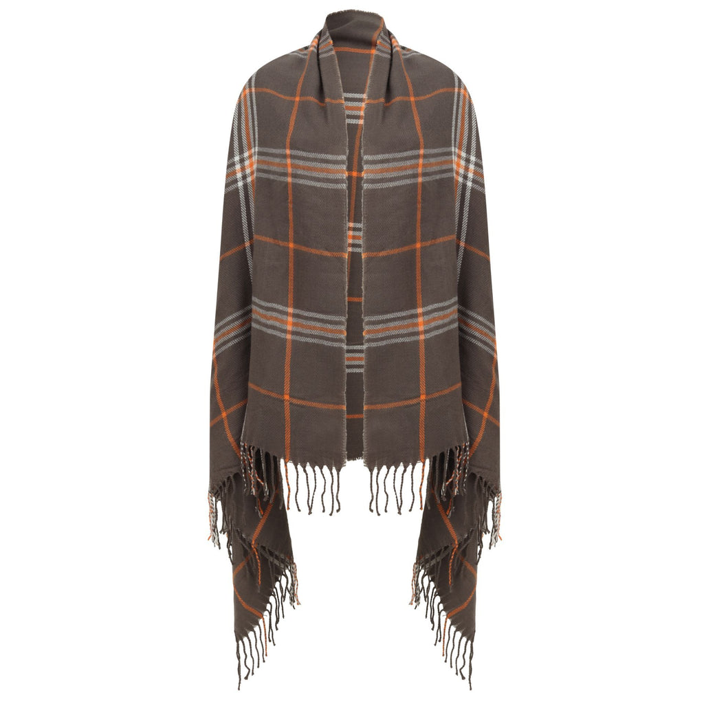 East Village Sicily Scarf - grey check