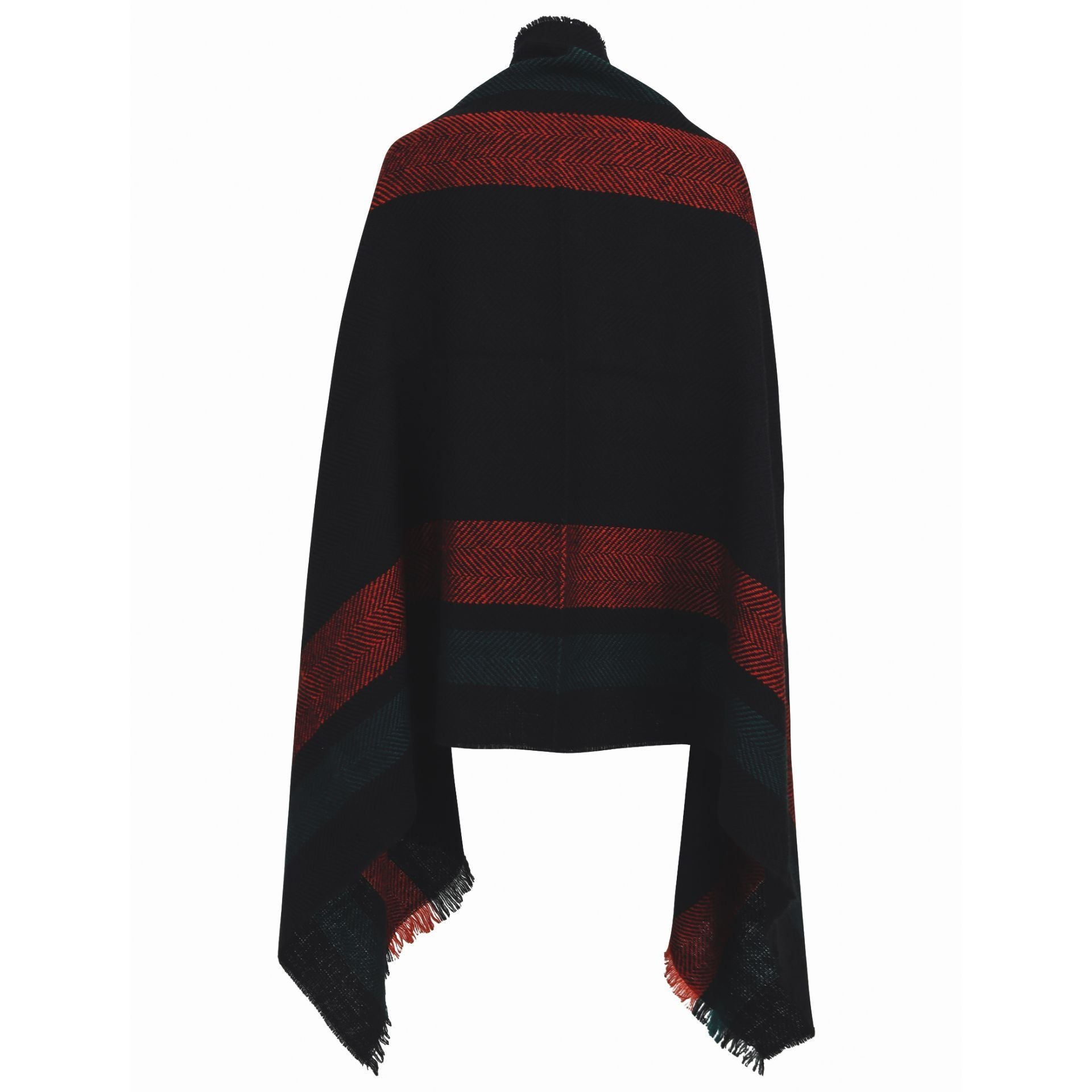 Paris Scarf - navy with red