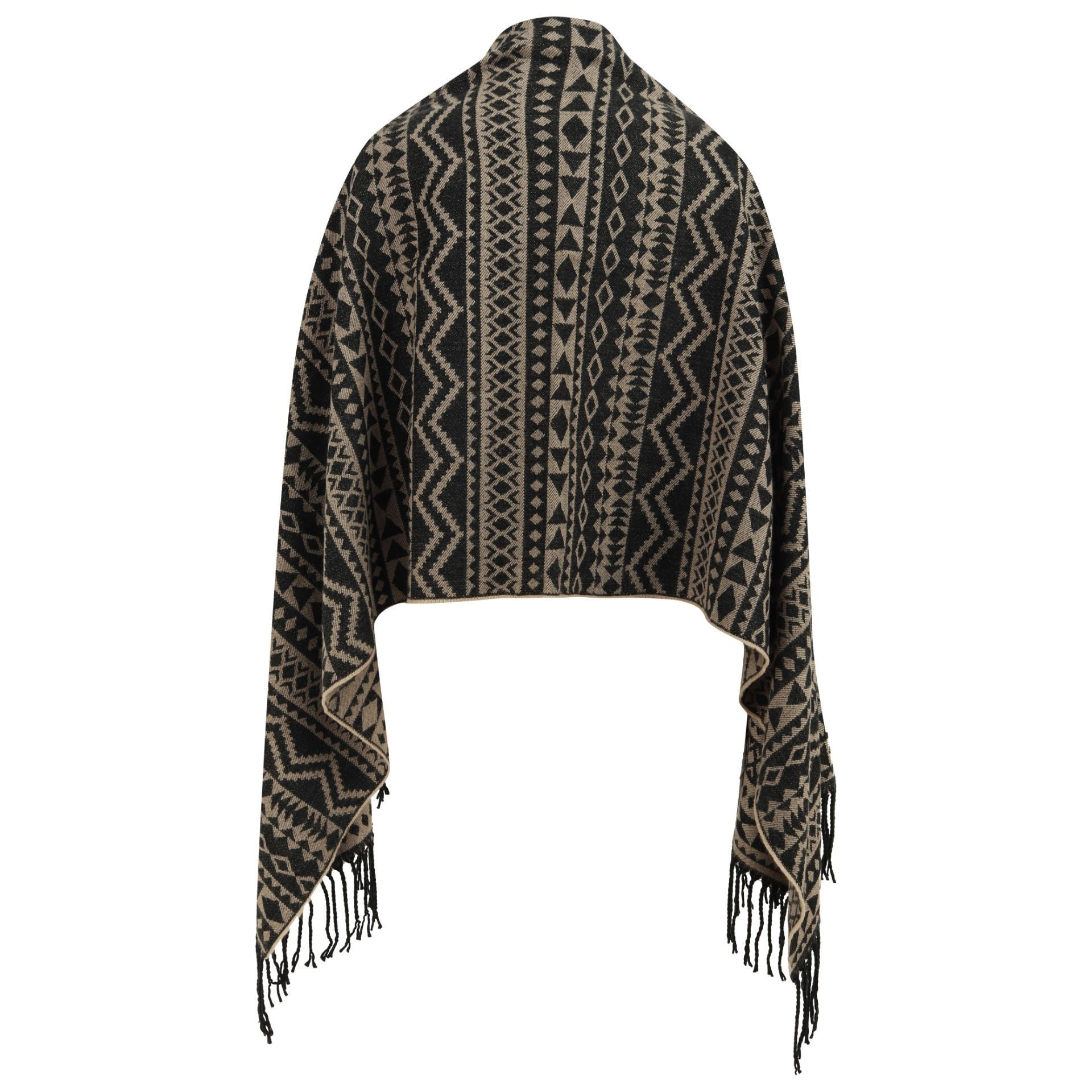East Village Brooklyn Scarf - aztec black & ivory