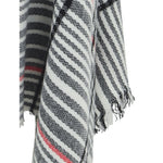 Load image into Gallery viewer, East Village Alabama Scarf - grey with black & red line check