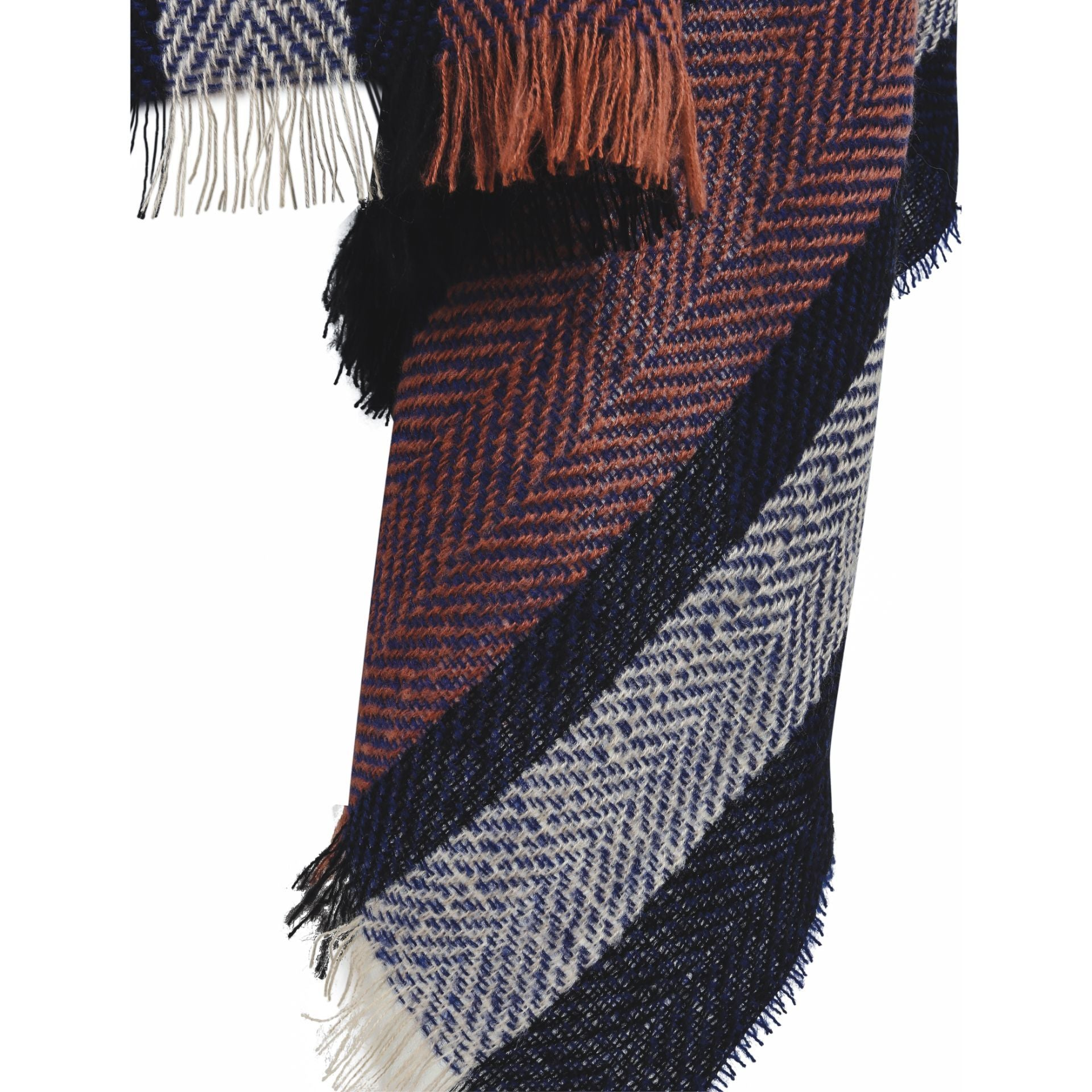 New York Scarf - Navy with pink