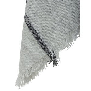 Denia Scarf - grey with black line check
