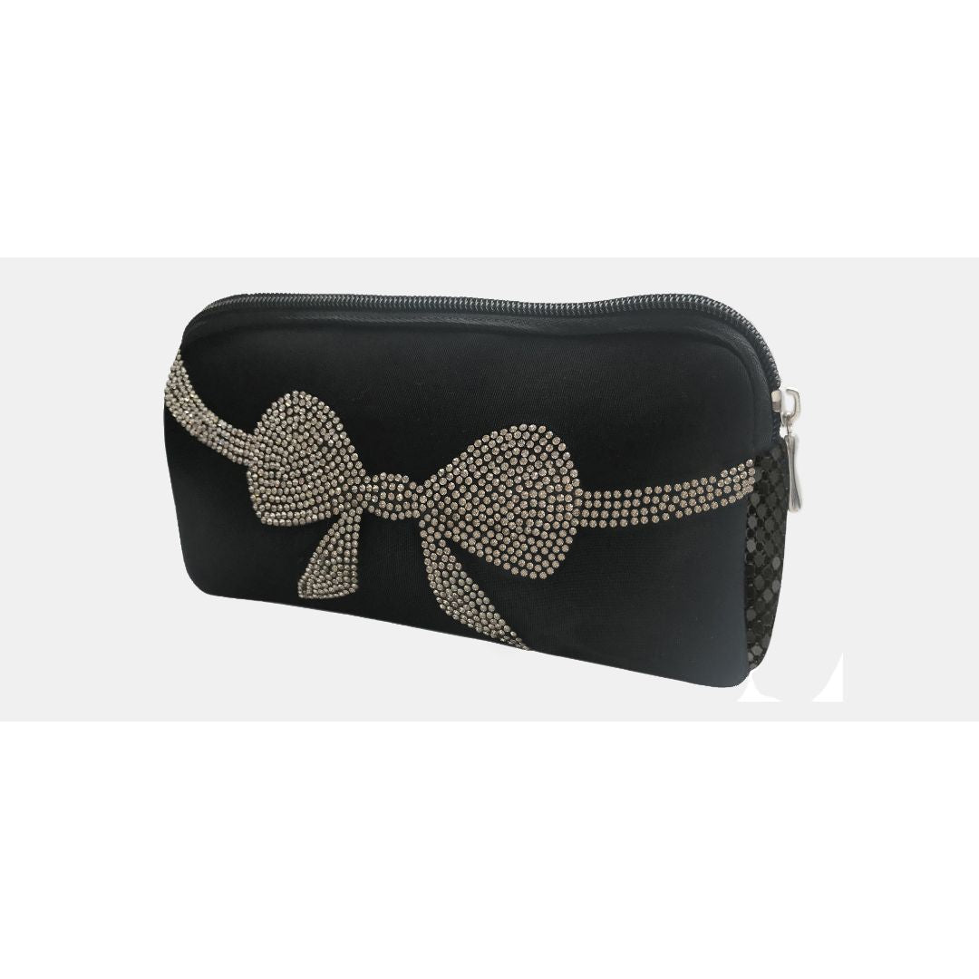Moliabal Milano Neoprene Bag with Crystal Bow