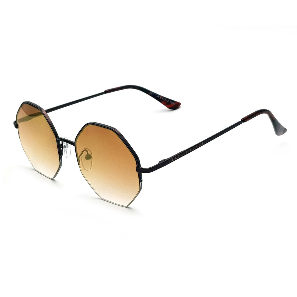 East Village Hector Hex Copper With Gold Mirror Lens