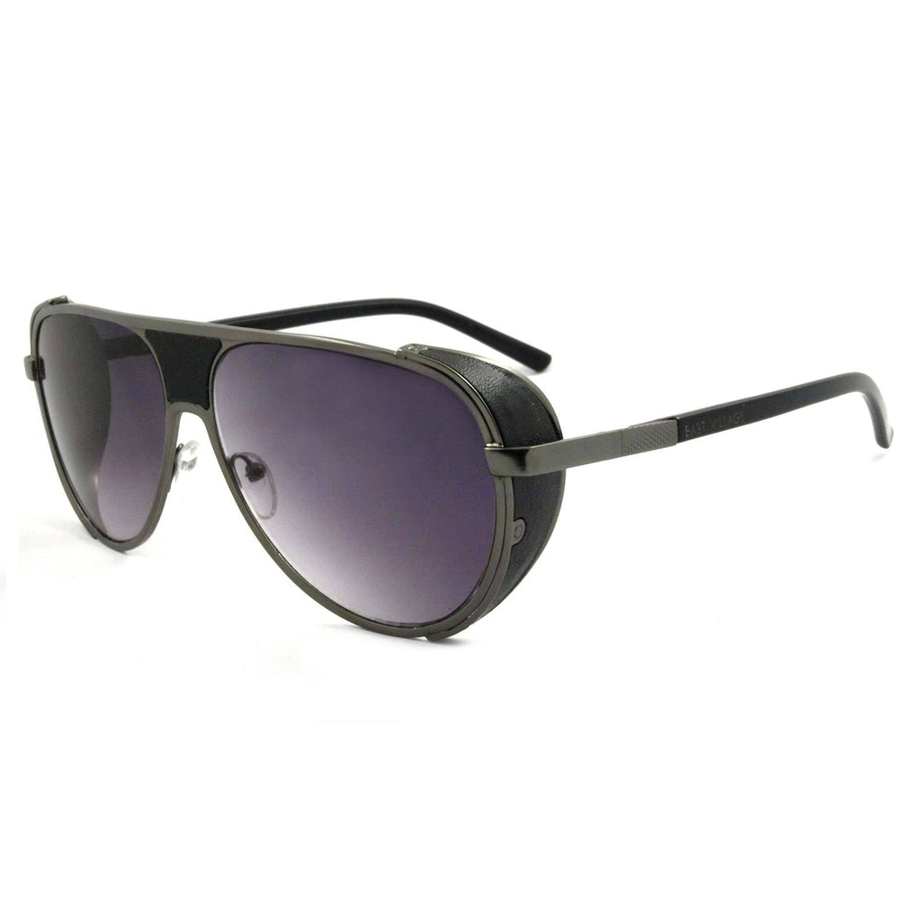 East Village Side Shield Aviator Jordan in Black/gunmetal