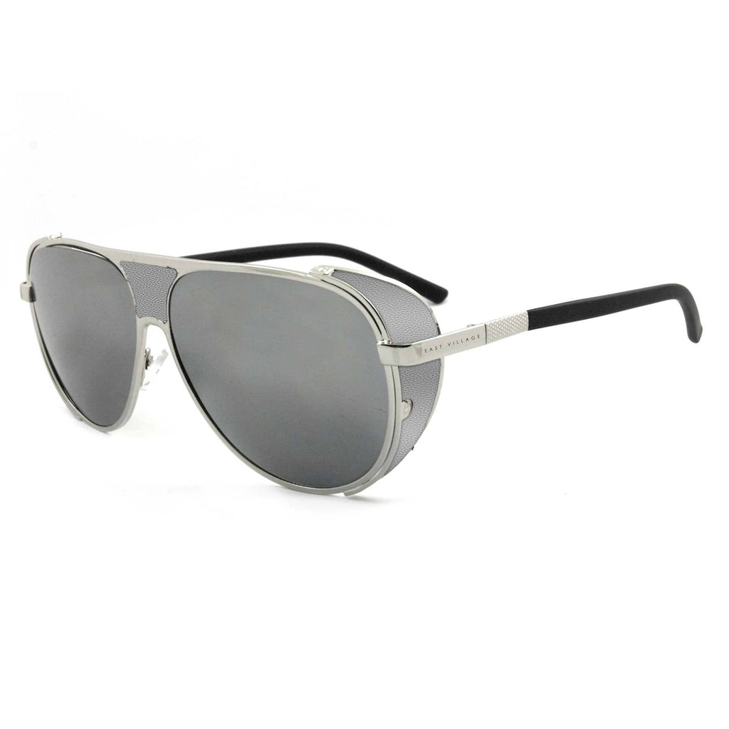 East Village Side Shield Aviator Jordan in Silver/black