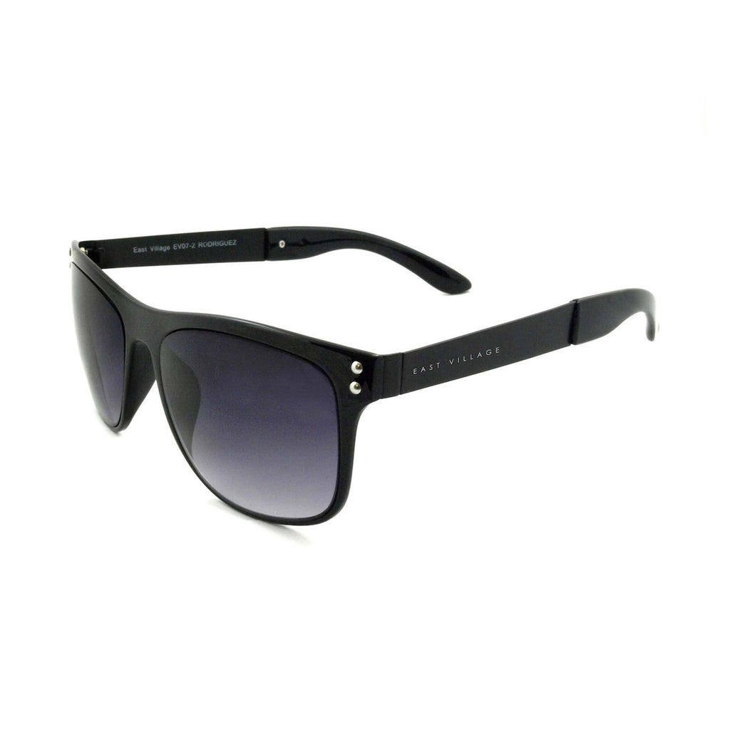 East Village Metal Rodriguez Wayfarer Shape Sunglasses In Black