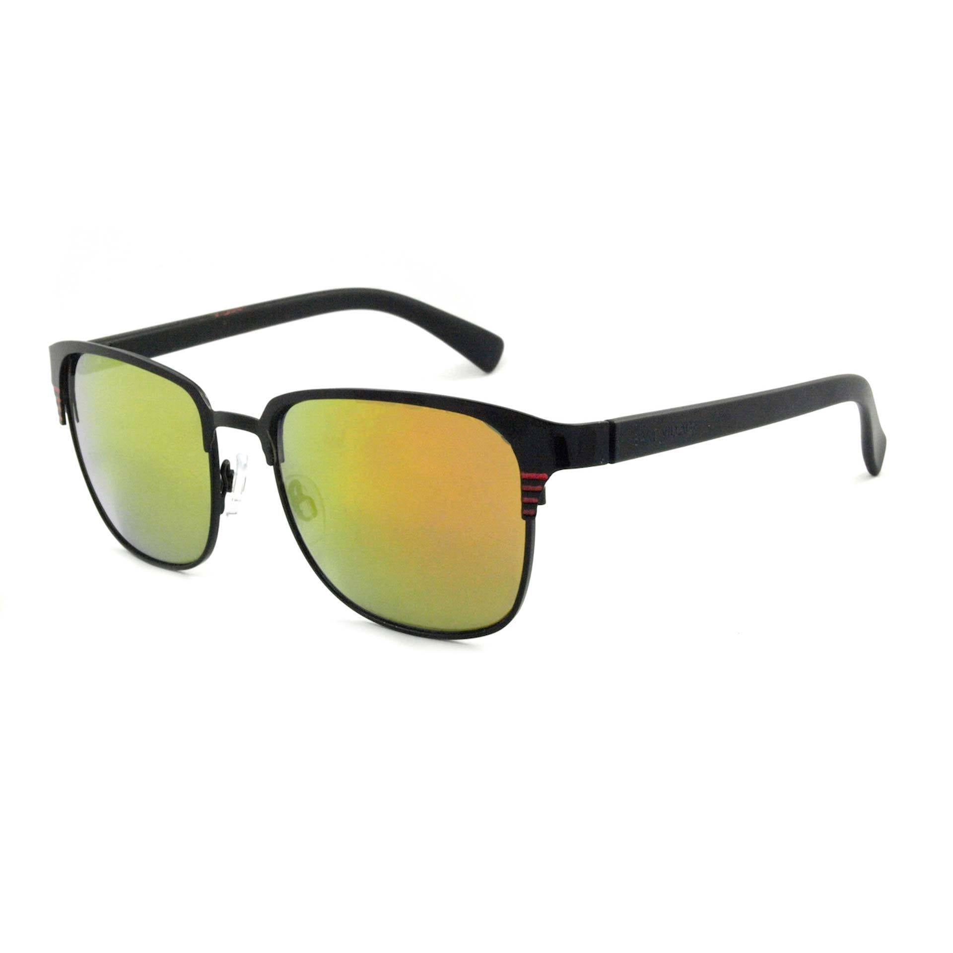 East Village Metal Joel Sunglasses With Gold Flash Mirror Lens