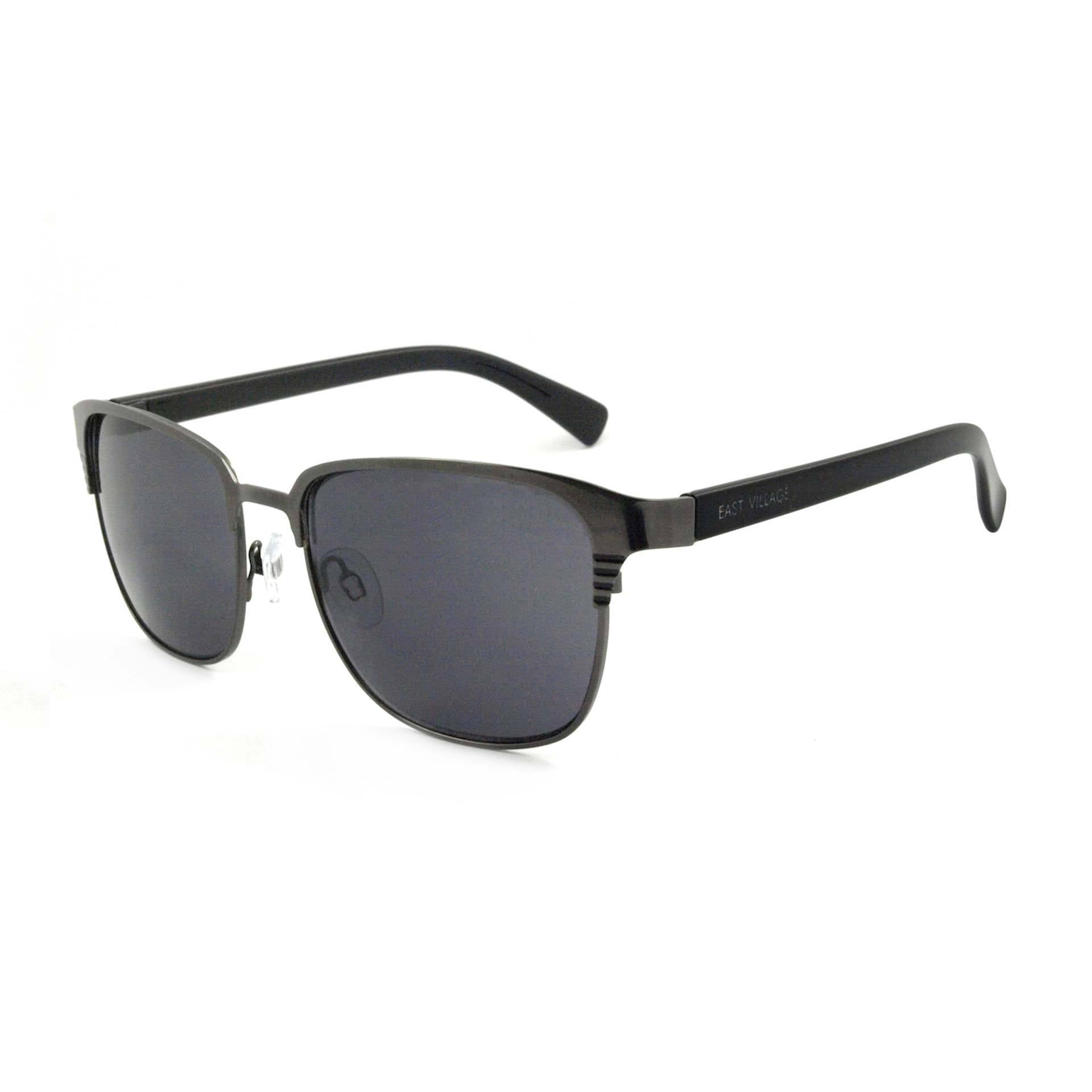 Metal 'Joel'  Sunglasses With Blue Flash Lens