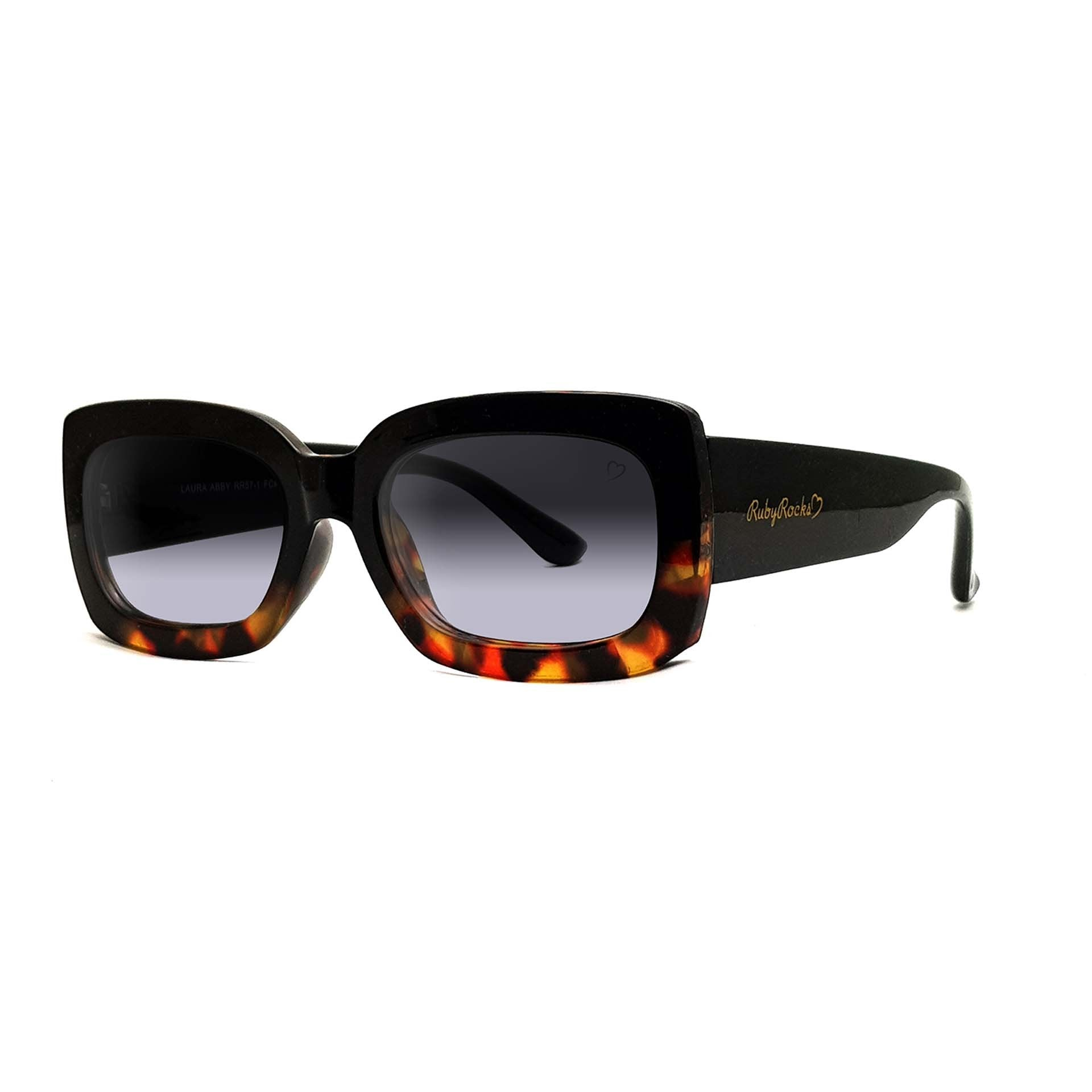 'Laura Abby' Sunglasses In Black & Tort