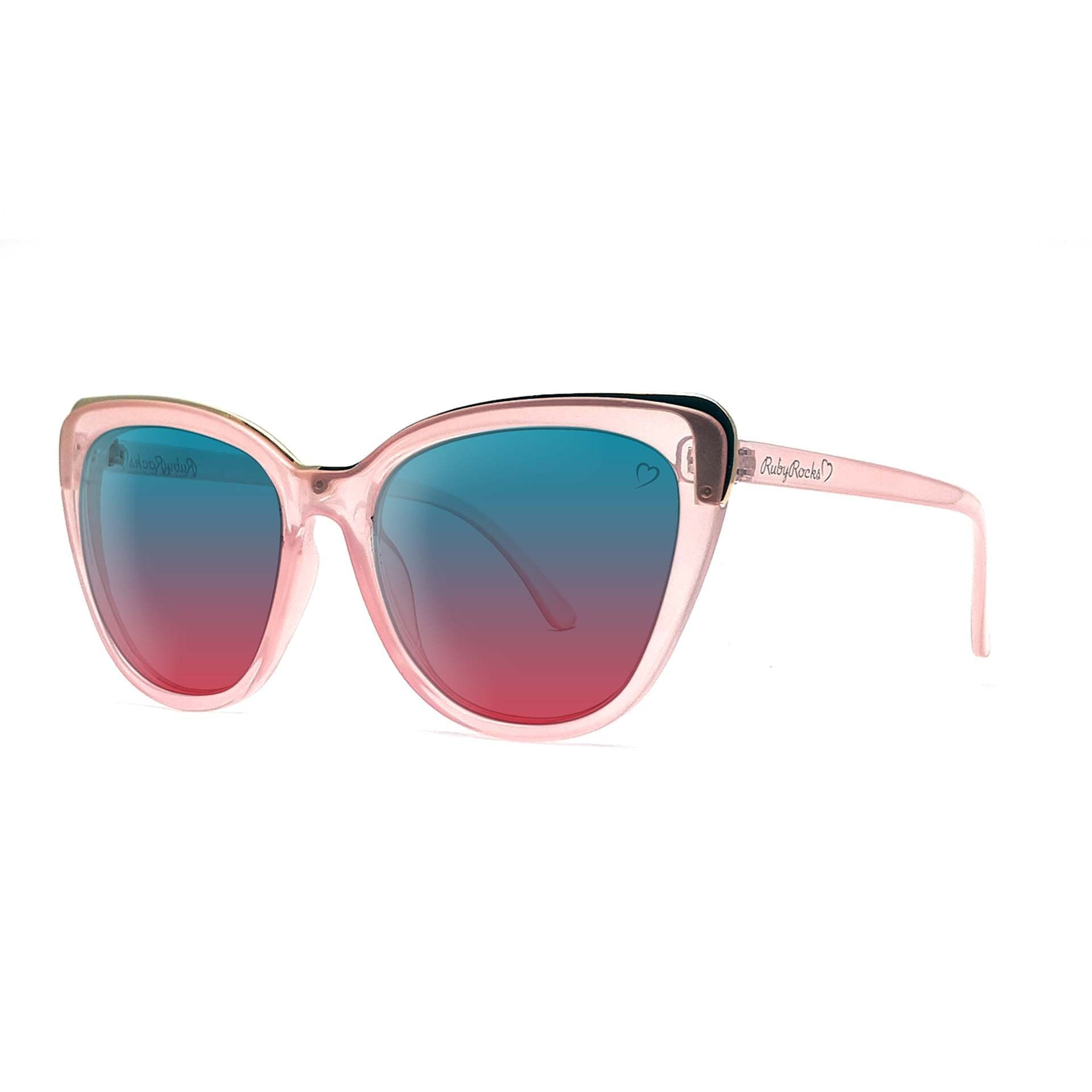 'Roseanne' Cateye Sunglasses In Crystal Pink