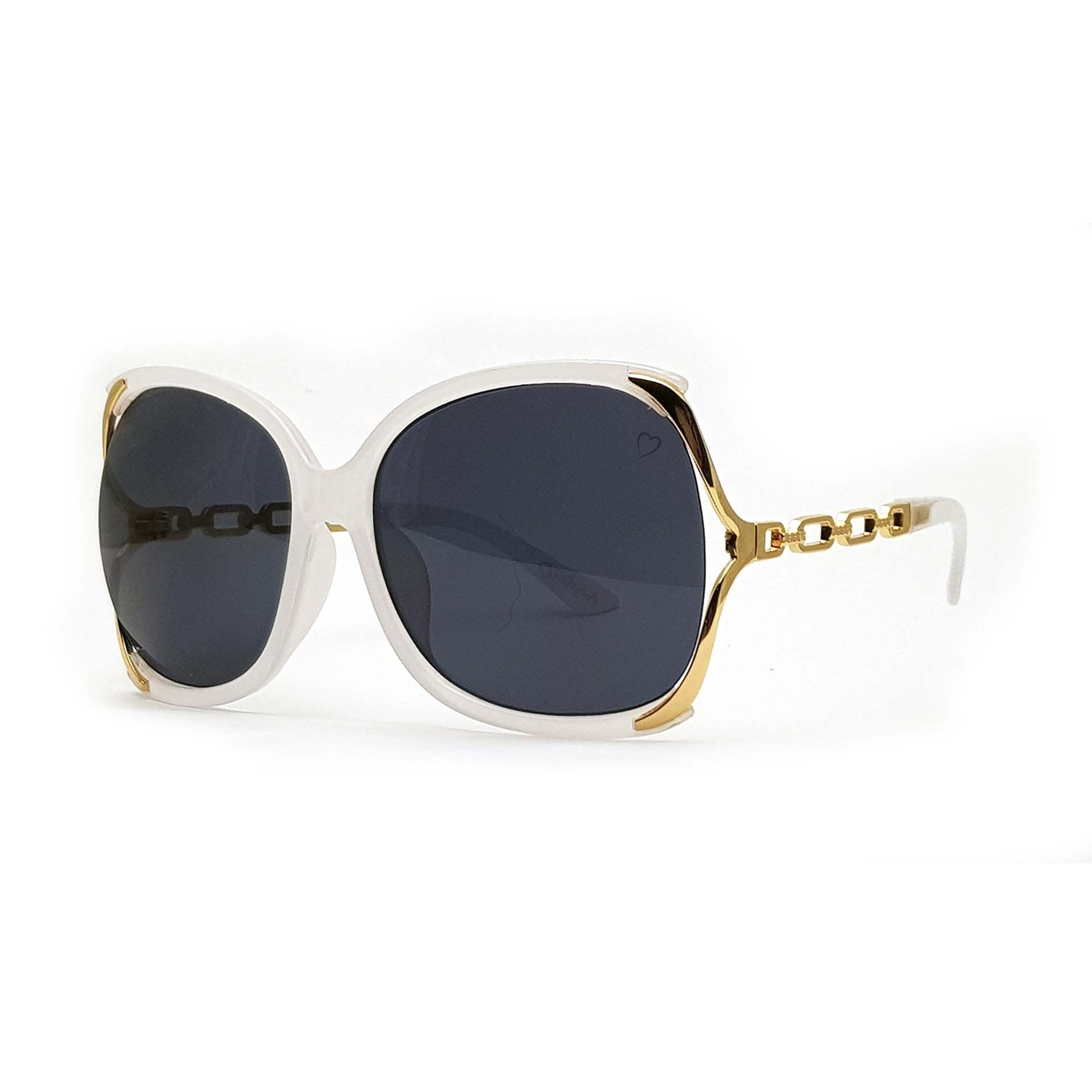 'Cherry' Oversized Sunglasses In Crystal