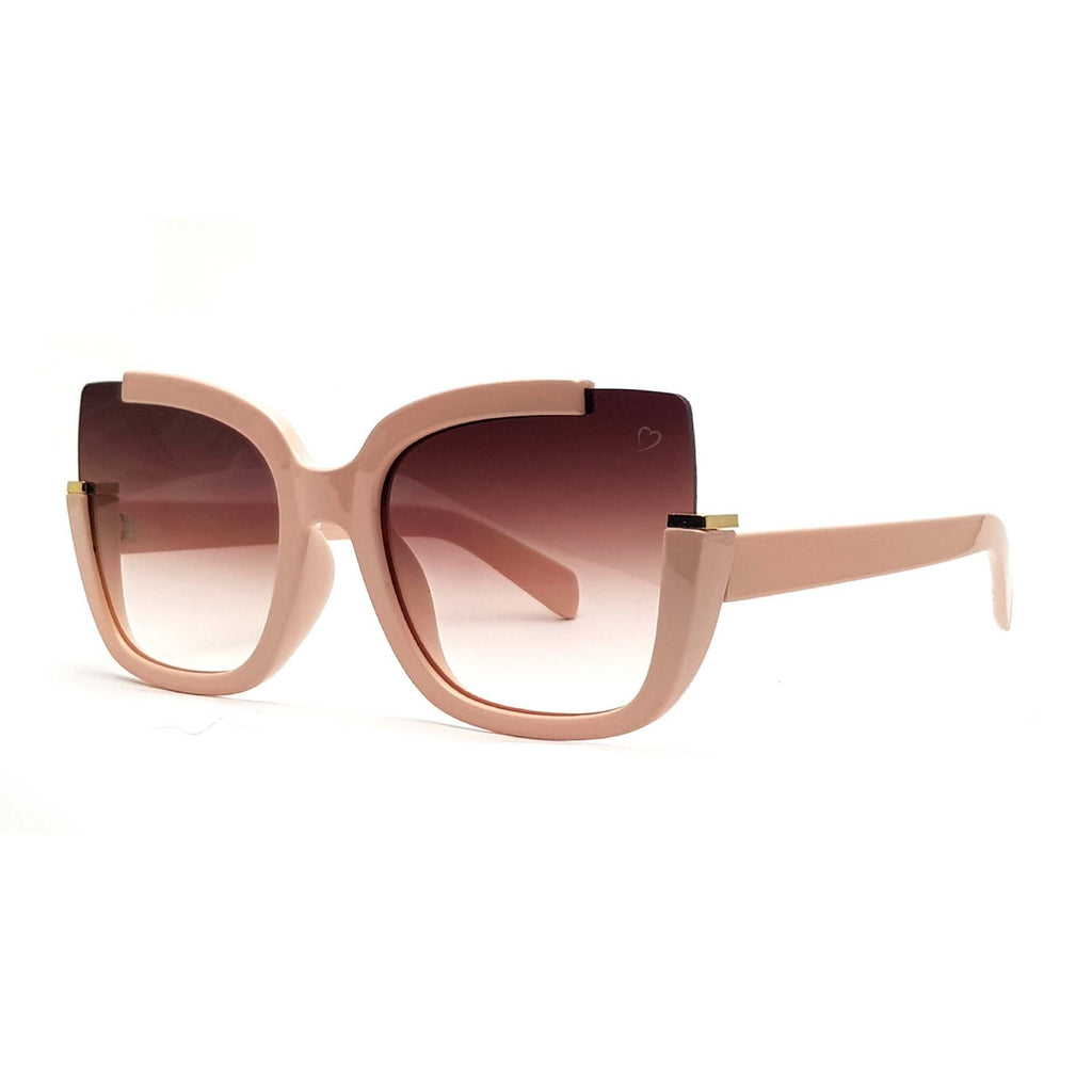 RUBY ROCKS 'ELIZABETH' SQUARE SUNGLASSES