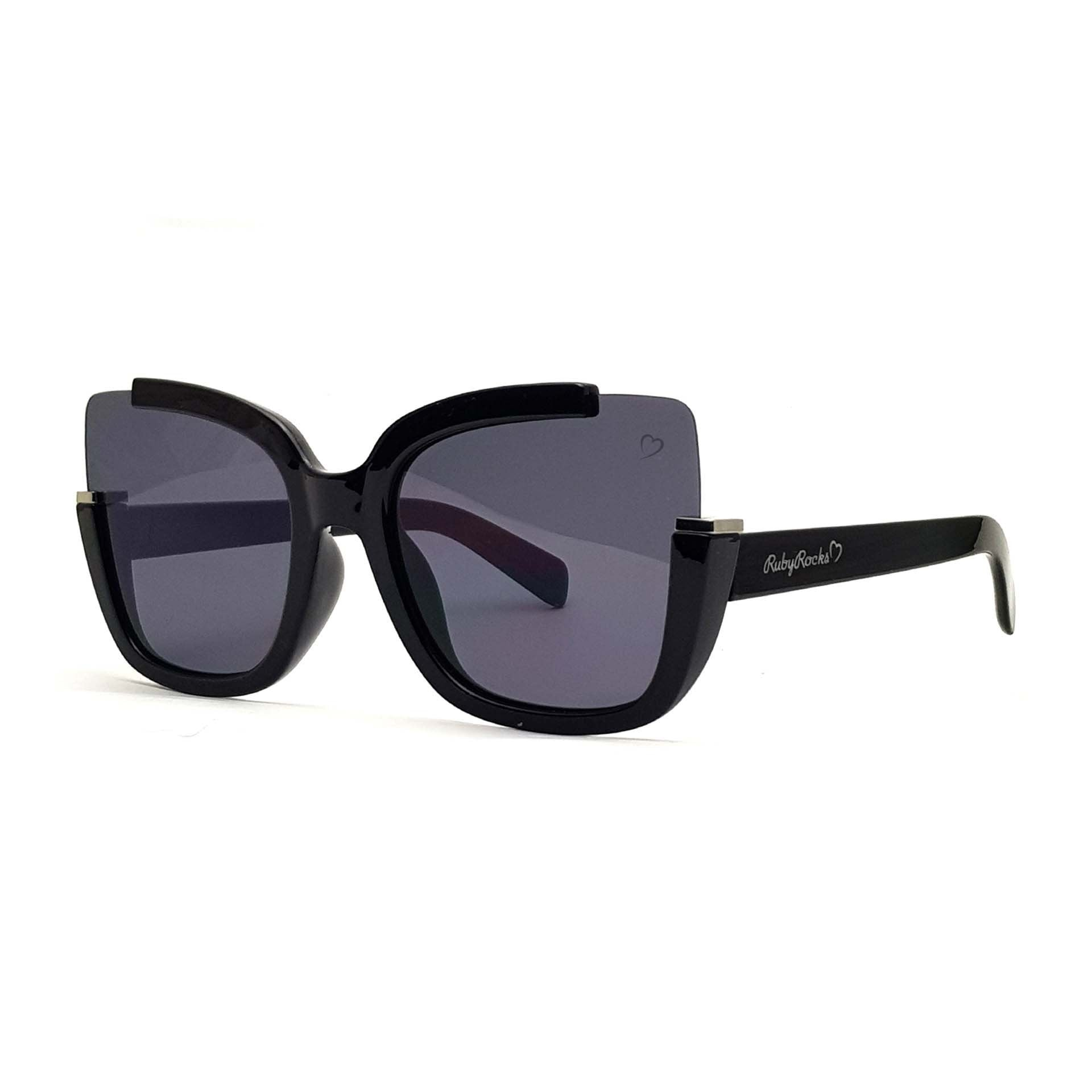'Elizabeth' Square Sunglasses In Black