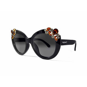 Ladies 'Dubai' Gem Detail Sunglasses In Black
