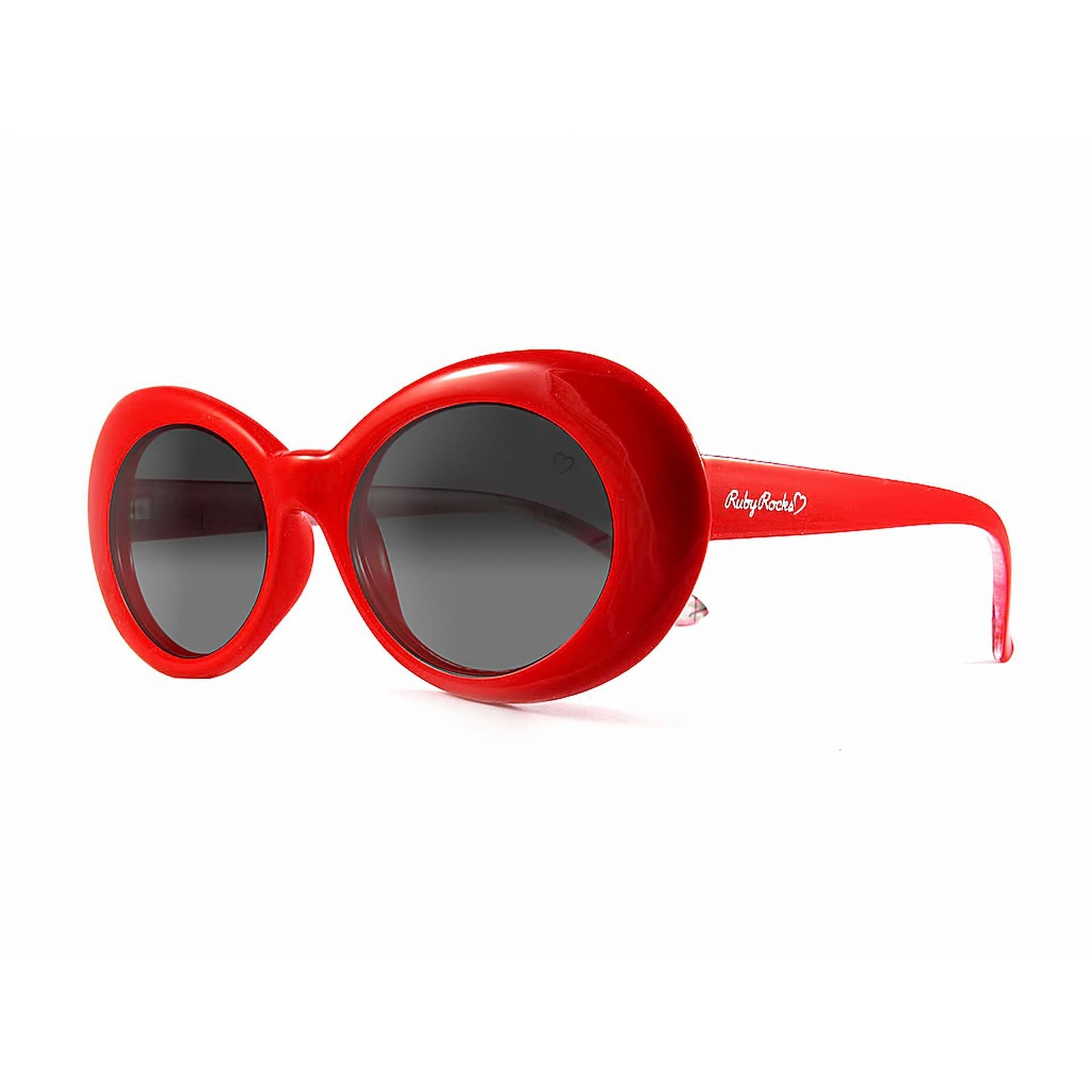 Ladies 'Antigua' Oval Sunglasses In Red