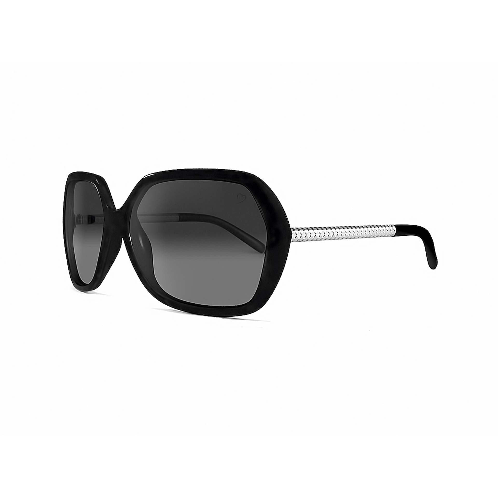 Ladies 'Paris' Oversized Sunglasses In Black