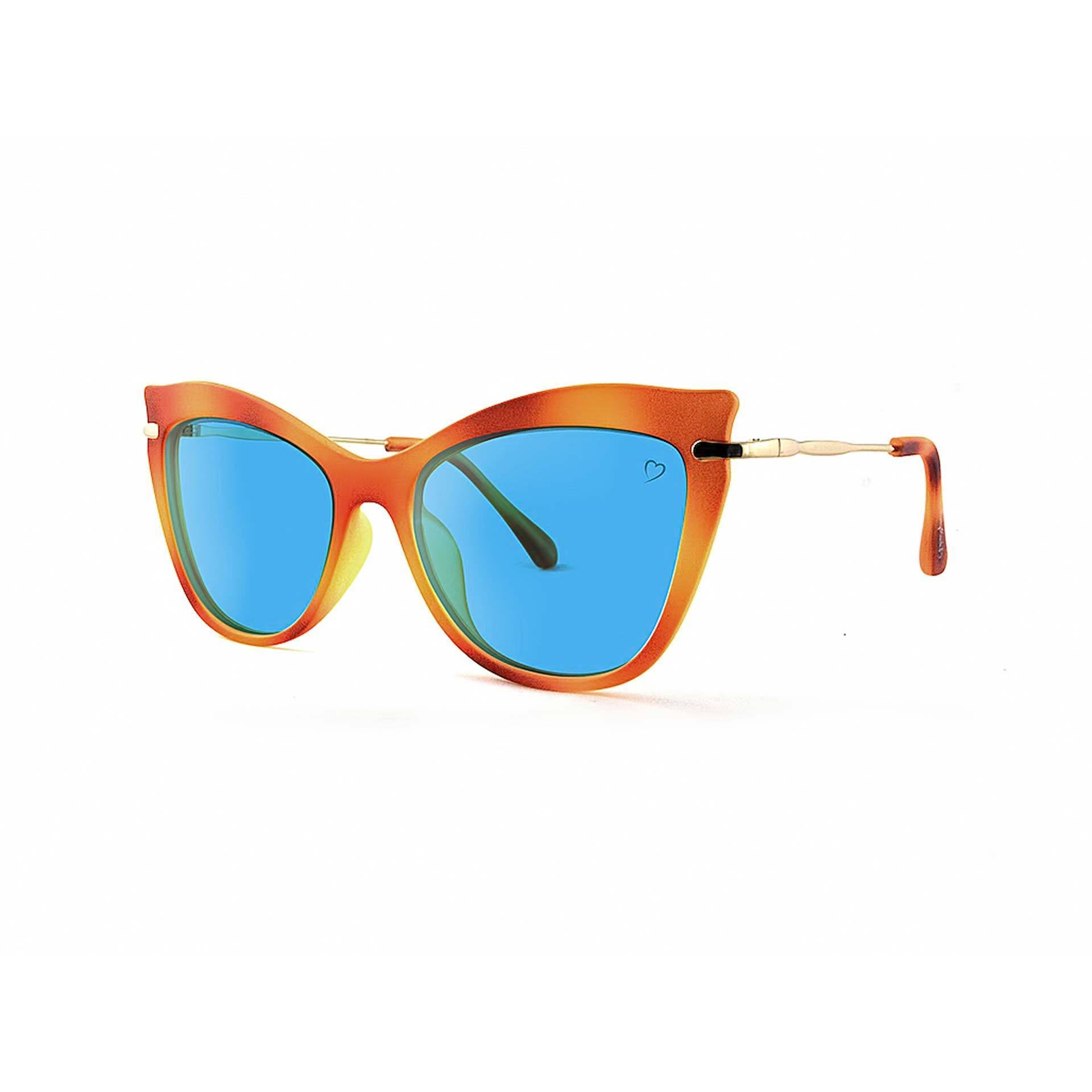Faceted 'Ischia' Cateye With Metal Temples