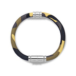Load image into Gallery viewer, Camo Leather Bracelet with Stainless Steel Clasp
