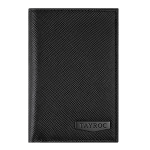 Trent - Black Leather Bifold Wallet