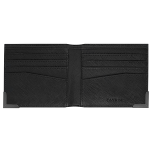 Clyde - Black Leather Bifold Wallet