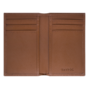 Trent - Tan Leather Bifold Wallet