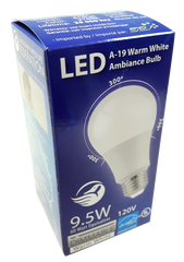 4 Pack LED A-19 Warm White Ambiance Bulb