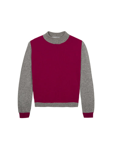 Contrast Front Sweater