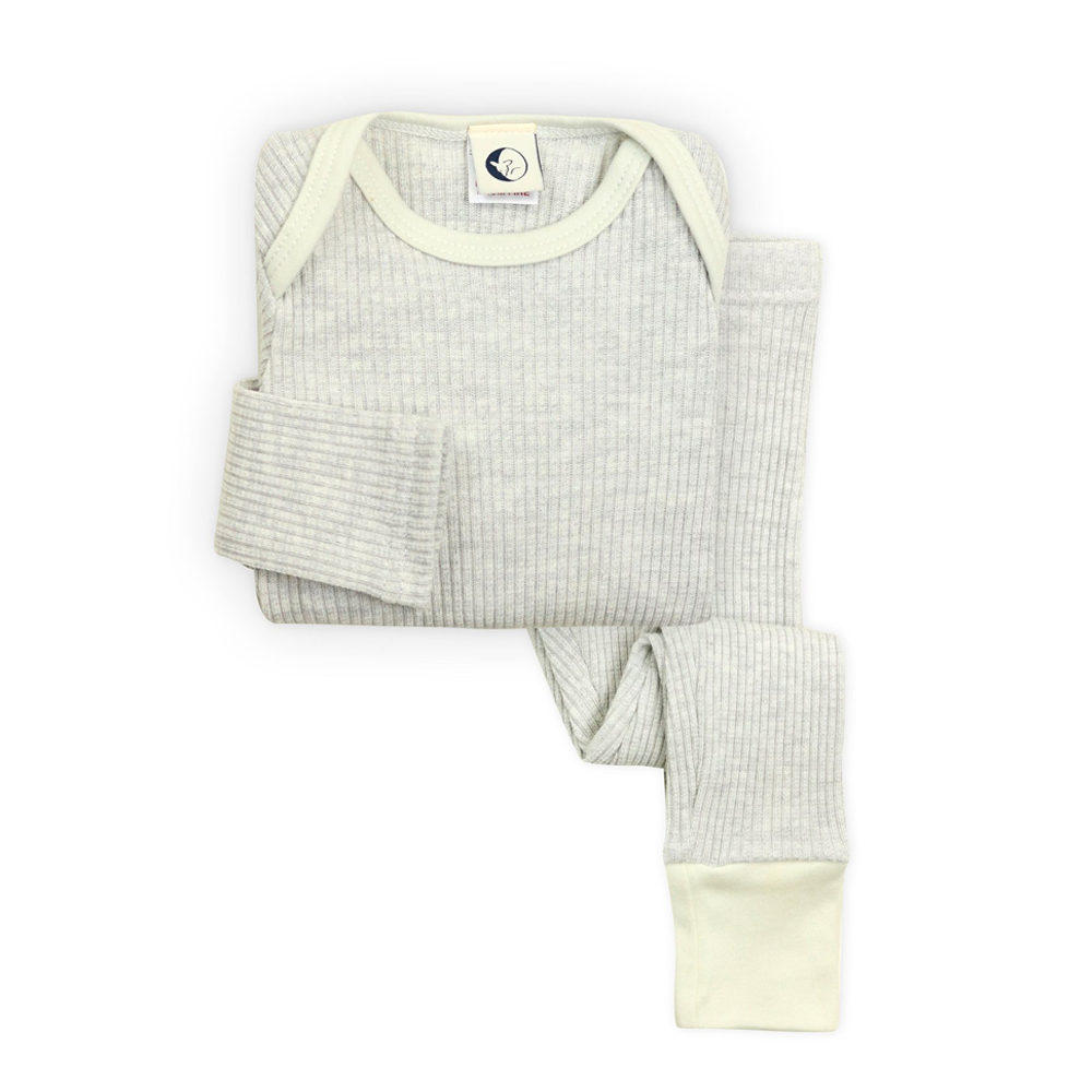 Kids Rib Lounge Set: Pebble Marl