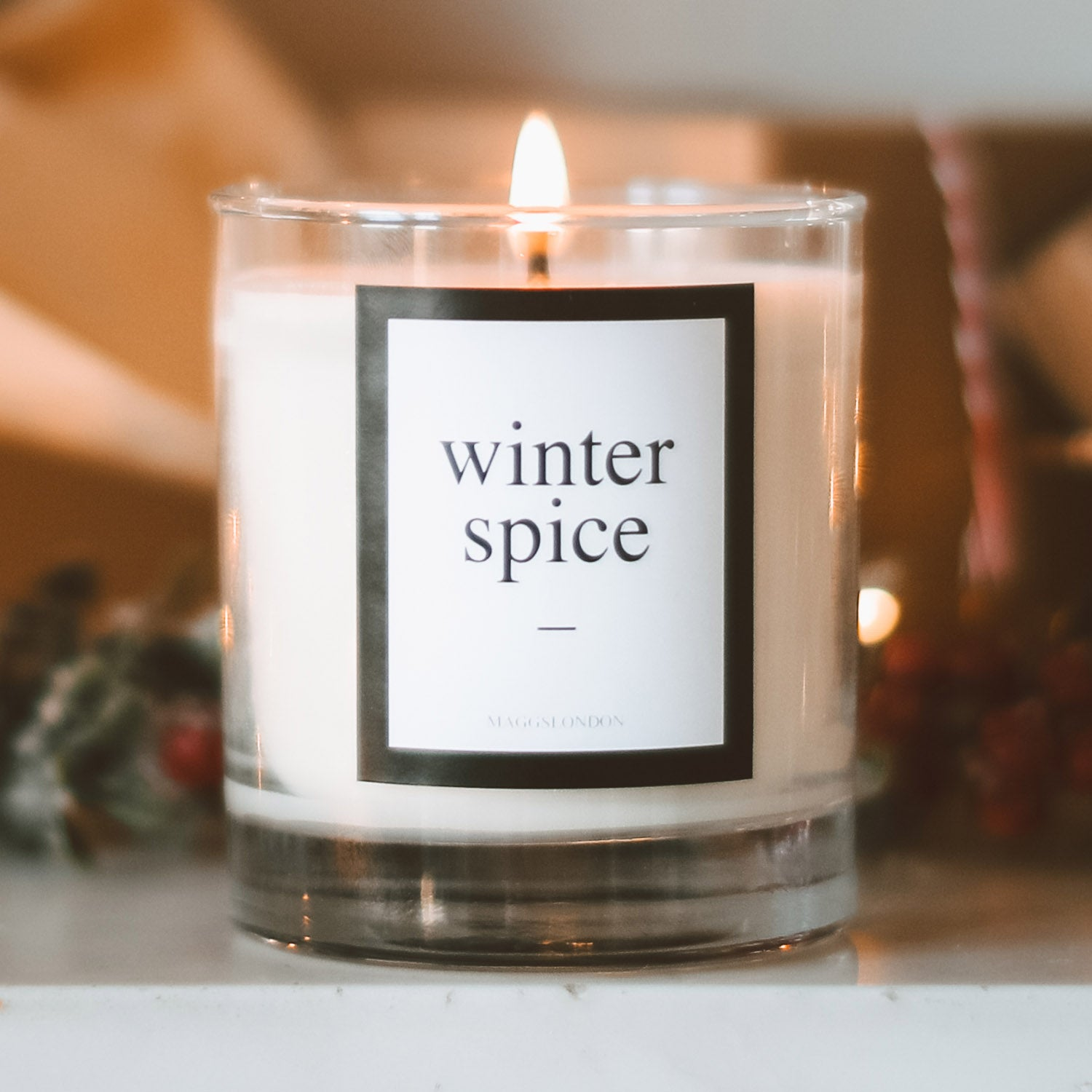 Winter Spice scented candle