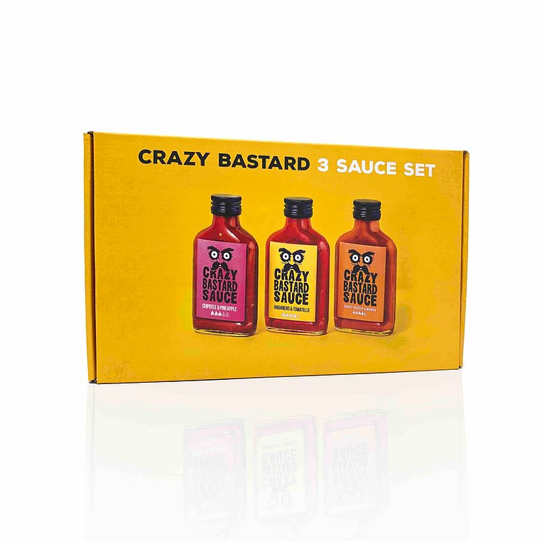Crazy Bastard Sauce - 3 Sauce Set (Best Sellers) 3x100ml