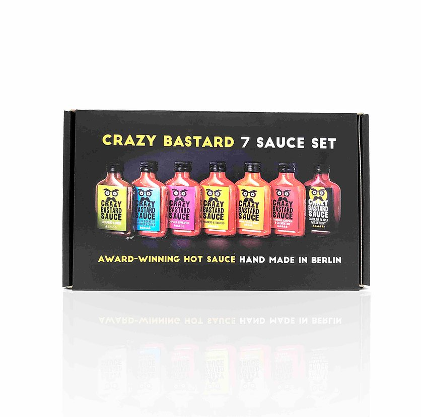 Crazy Bastard Sauce - 7 Sauce Set  7x100ml