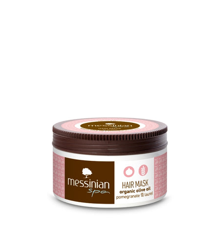 HAIR MASK - POMEGRANATE & LAUREL - 250ML,  Messinian Spa